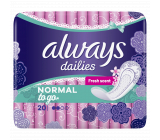 Always Dailies Singles To Go Normal Fresh Scent brief intimate insoles 20 pieces