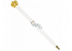 Albi Ballpoint pen white with gold crown