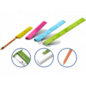 Y-Plus Multifunction ruler 4 in 1 with pencil, rubber and sharpener 30 cm of various colors