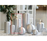 Lima Alfa candle silver cylinder 80 x 150 mm 1 piece