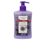Bohemia Gifts & Cosmetics Lavender regenerative liquid soap dispenser 500 ml