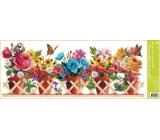 Room Decor Window film without glue stripe box flower pots 60 x 22.5 cm