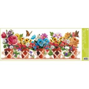 Room Decor Window foil without glue strip box flowers twigs 60 x 22.5 cm