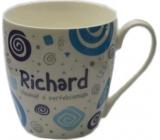 Nekupto Twister hrnek se jménem Richard modrý 0,4 litru 068 1 kus