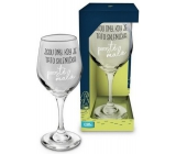 Albi Můj Bar Sklenka na víno Jsou dny, kdy je tato sklenička prostě malá 270 ml