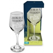 Albi My Bar Wine Glass There are days when this glass is just small 270 ml