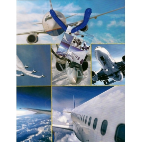 Nekupto Gift paper bag 23 x 18 x 10 cm Aircraft 1150 40 KFM