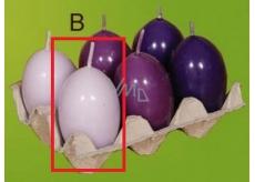 Lima Aromatic egg candle light purple 40 x 60 mm 1 piece