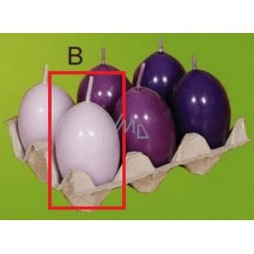 Lima Aromatické vajíčko svíčka světle fialová 40 x 60 mm