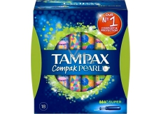 Tampax Compak Pearl Super dámské tampony 18 kusů