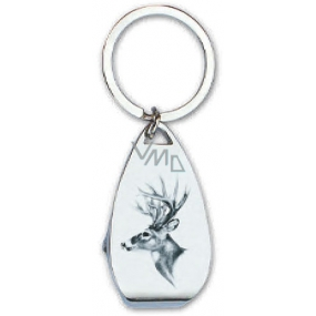 Bohemia Gifts & Cosmetics Keychain with Opener Deer