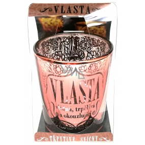 Albi Shimmering candle holder made of glass for tea candle VLASTA, 7 cm