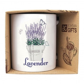 Bohemia Gifts Ceramic mug with a picture of Lavender sheaves 350 ml
