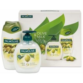 Palmolive Naturals Olive Milk liquid soap 300 ml + 250 ml shower gel, cosmetic set