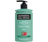 Authentic Toya Aroma Red Watermelon liquid soap 400 ml dispenser