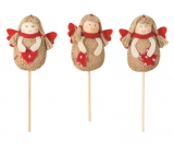 Jute angel 7 cm + skewers 1 piece