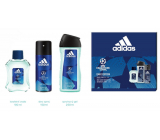 Adidas UEFA Champions League Dare Edition VI Eau de Toilette for Men 100 ml + shower gel 250 ml + deodorant spray 150 ml, gift set