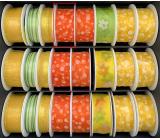 Nekupto Fabric ribbon orange white polka dots 3 mx 25 mm