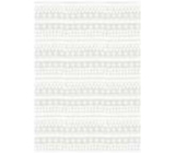 Ditipo Gift wrapping paper 70 x 100 cm Christmas white dashes, snowflakes, hearts 2 sheets