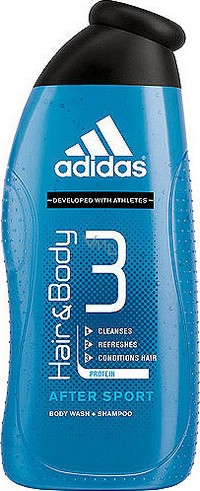 dar a entender Necesito combustible  Adidas 3 After Sport shower gel for body and hair for men 400 ml - VMD  parfumerie - drogerie
