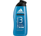 Adidas Hair & Body 3 After Sport shower gel for body and hair for men 400 ml