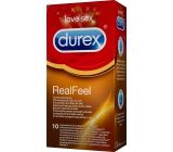 Durex Real Feel condoms for a natural feeling of skin on skin 10 pieces
