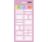 Arch Household Stickers Pastel Set Pink 12 labels