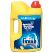 Calgonit Finish Power Powder Lemon prášek do myčky na nádobí 2,5 kg