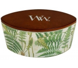 WoodWick Decal Fern - Fragrant candle candle with wooden wide knot and glass top boat 453 g