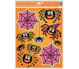 Room Decor Window foil without glue with glitter Halloween spider web 42 x 30 cm