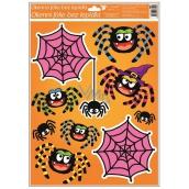 Window film with glitter 42x30 cm, Halloween spider web 967 6490