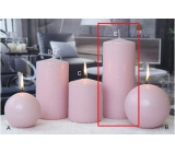 Lima Ice pastel candle pink cylinder 80 x 200 mm
