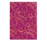 Ditipo Christmas wrapping paper luxury - purple gold ornaments 2 mx 70 cm