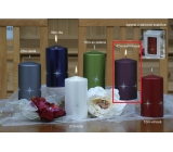 Lima Zircon Candle Crimson Cylinder 80 x 150 mm