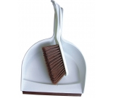 Clanax Broom with shovel set Brown 3110