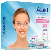 Astrid Aqua Biotic day and night cream for dry and sensitive skin 50 ml + Soft Skin 3 in 1 micellar water 400 ml, cosmetic set