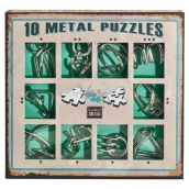 Albi Set of 10 metal puzzles green, age 7+
