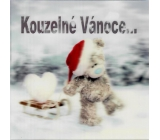 Me to You Envelope Greeting Card 3D Christmas Card, Christmas Bear with Sled 15.5 x 15.5 cm