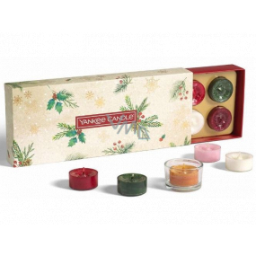 Yankee Candle Magical Christmas Morning Tealight 10 x 9.8 g + candlestick 1 piece, Christmas gift set
