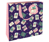 Nekupto Gift paper bag luxury 23 x 23 cm Christmas gifts WLIM 1974