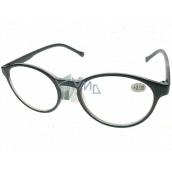 Berkeley Reading glasses +2.0 plastic black, round glass 1 piece MC2182