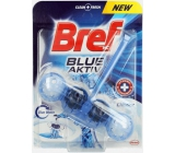 Bref Blue Aktiv Chlorine WC block for hygienic cleanliness and freshness of your toilet, colors the water to a blue shade of 50 g