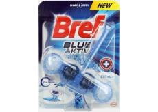 Bref Blue Aktiv Chlorine WC blok pro hygienickou čistotu a svěžest Vaší toalety, obarvuje vodu do modrého odstínu 50 g