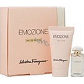 Salvatore Ferragamo Emozione perfumed water 5 ml + perfumed body lotion 30 ml, gift set