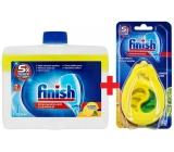 Finish Lemon čistič myčky 250 ml + Calgonit Finish Citron a Limeta osvěžovač do myčky 1 kus