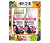 Bione Cosmetics Keratin & Caffeine Macadamia Oil Regenerating Shampoo 260 ml + Regenerating Conditioner 260 ml, cosmetic set