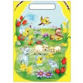 Easter plastic bag Bag of sheep and sheep 32 x 20 x 4 cm