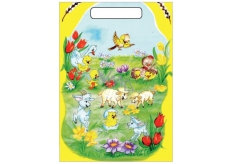 Angel Easter plastic bag Baby goats and sheep 32 x 20 x 4 cm