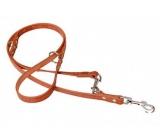 B&F Leather leash switch Grazl pattern acorn leaf color cognac 1.8 x 240 cm