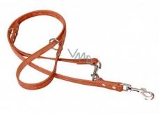 Leash Leather Switch Grazl pattern acorn sheet color cognac 1.8 x 240 cm